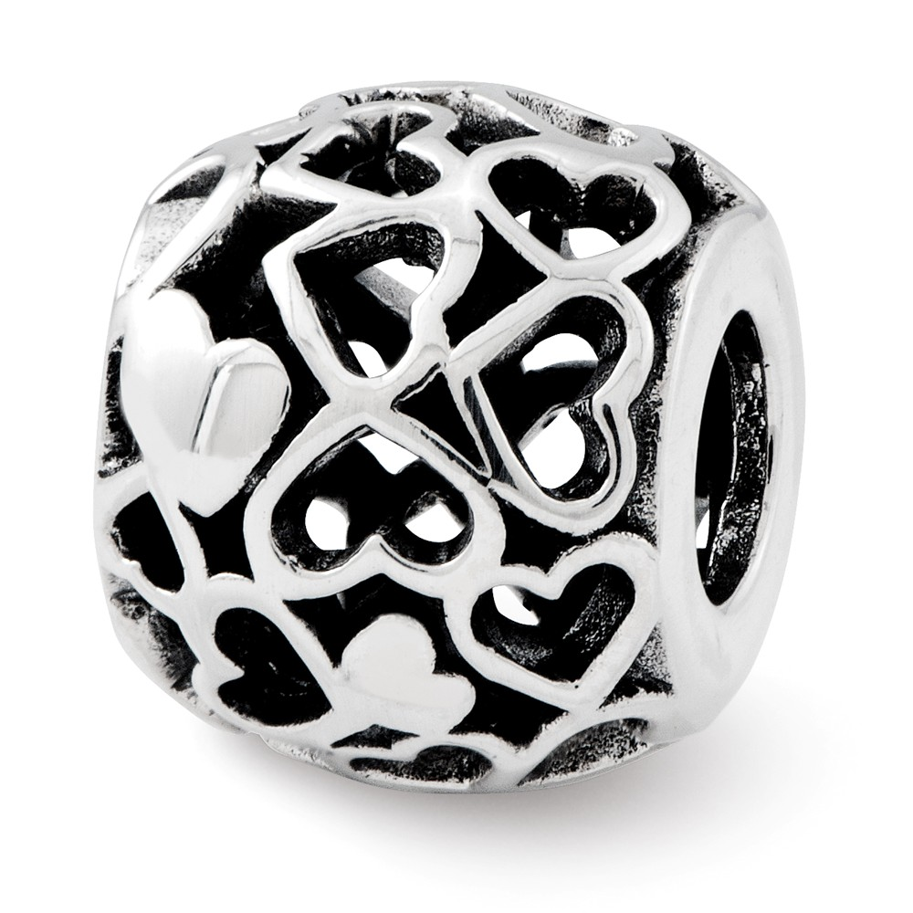 Sterling Silver Reflections Hearts Bali Bead