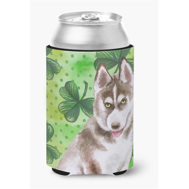 Siberian Husky Grey St.Patricks Can or Bottle Hugger