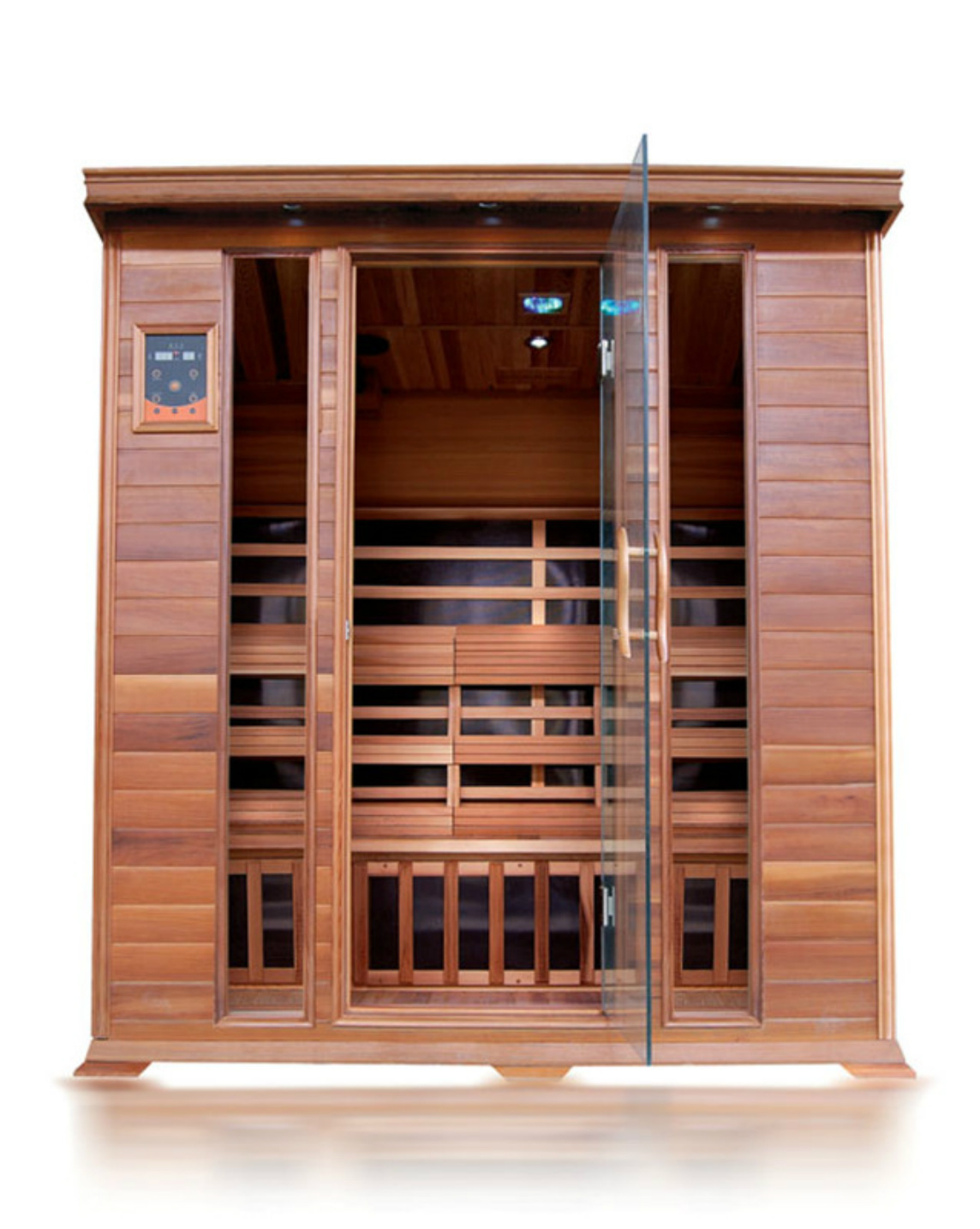 4-Person Rectangular Cedar Sauna by