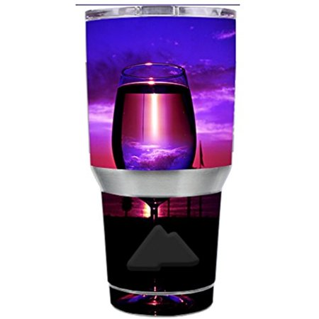 Skin Decal Vinyl Wrap for Ozark Trail 30 oz Tumbler Cup Stickers Skins Cover (6-piece kit) / Tropical Sunset Wine Glass