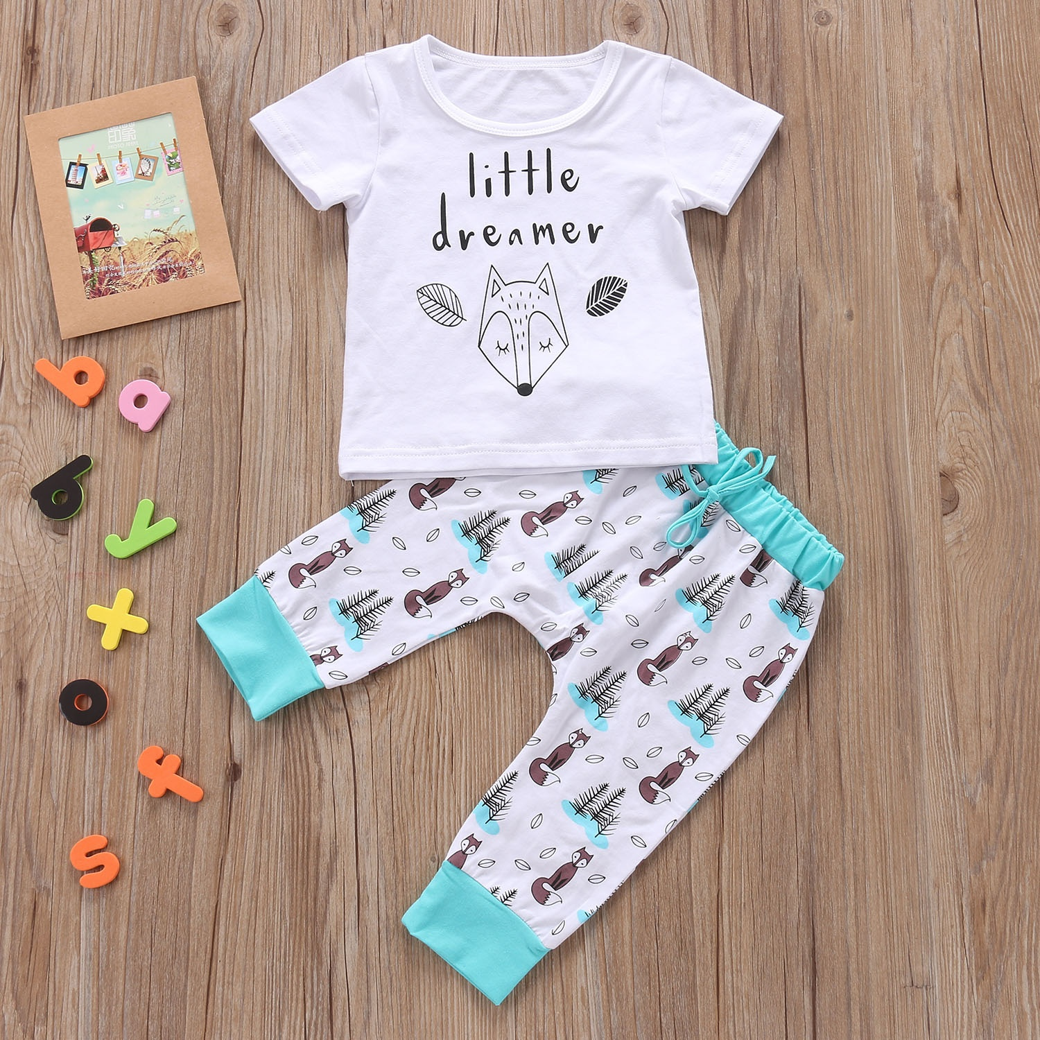 Passbey Unisex Tokyo Ghoul T-shirt Trousers Suit Baby Boy Girl Clothes T-Shirt Tops+Pants Tracksuit Outfits Set