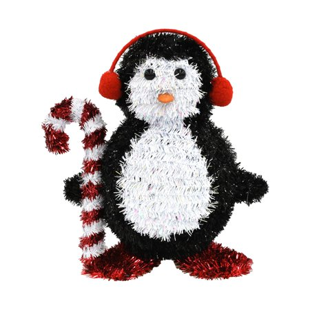 Holiday Time Tinsel Decor 3D Penguin Decoration](Holiday Door Decorations)