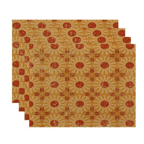 Bungalow Rose Replogle Geometric Print Placemat (Set of 4)