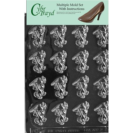 Bunnies with Carrots Chocolate Candy Mold with Exclusive Cybrtrayd Copyrighted Molding Instructions, Pack of
