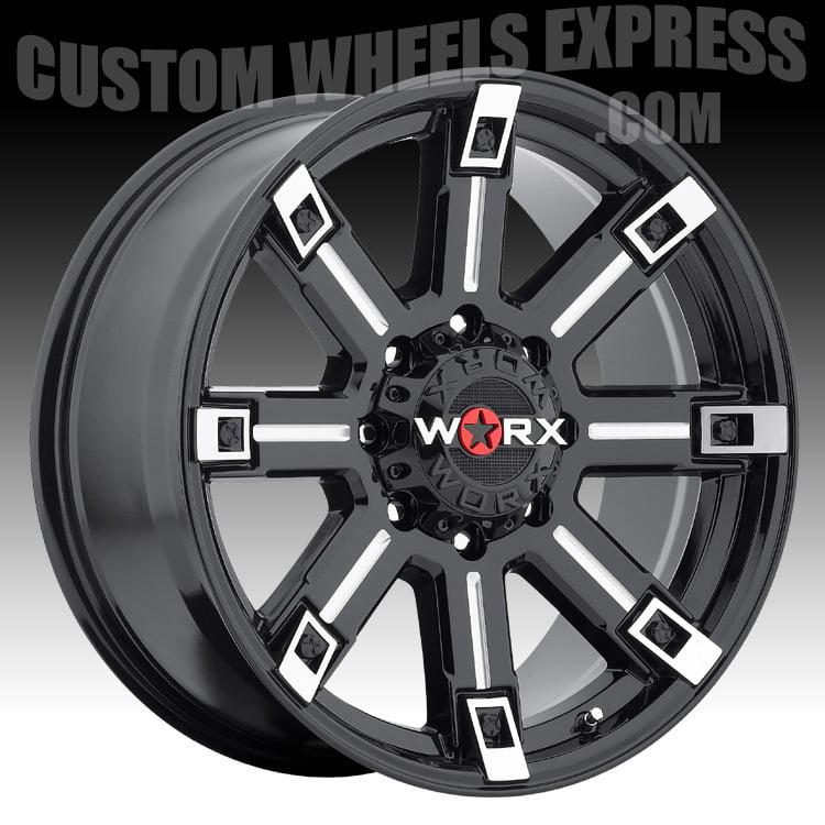WORX 806 Triton Gloss Black Milled 20x9 8x170 18mm (806-2...