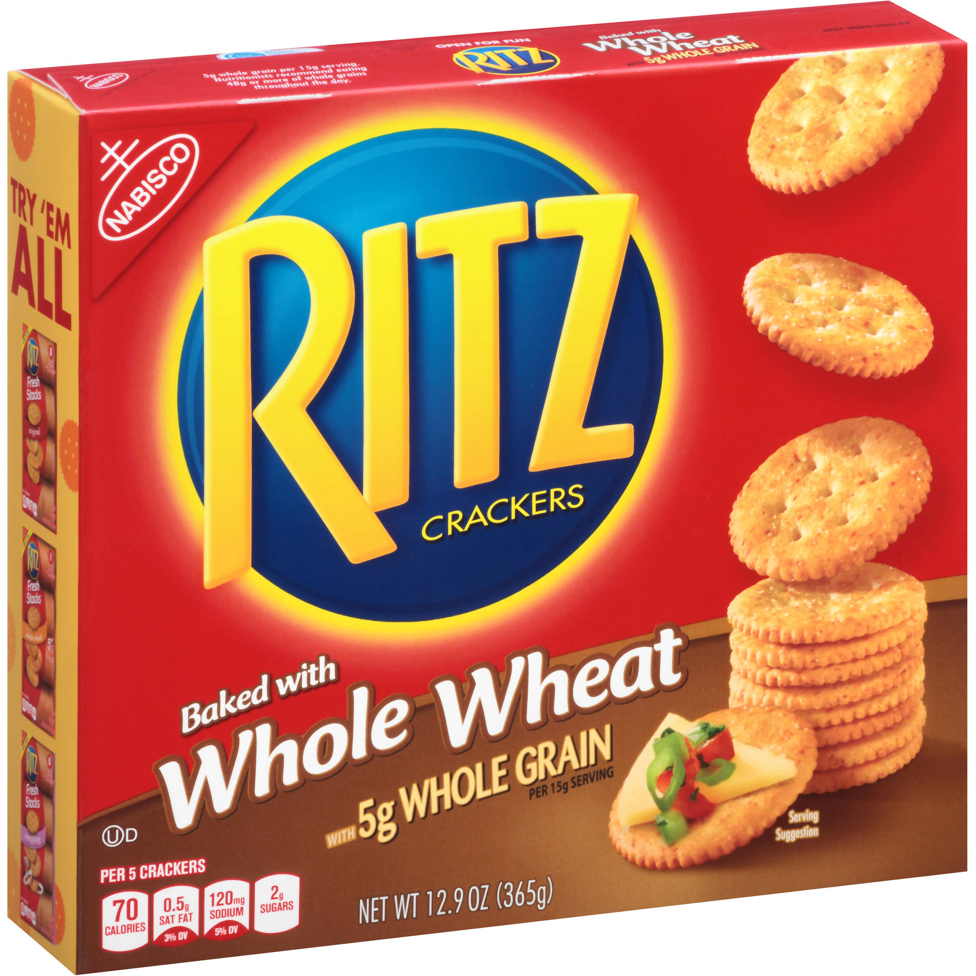 Nabisco Ritz Crackers Baked with Whole Wheat, 12.9 oz