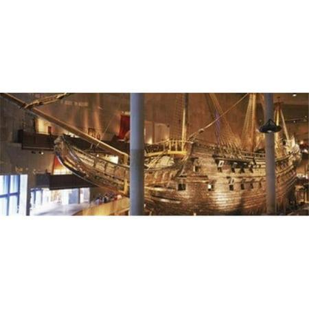 Wooden ship Vasa in a museum  Vasa Museum  Stockholm  Sweden Poster Print by  - 36 x 12 - image 1 de 1