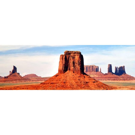 Tribal Art Carving - Monument Valley at Tribal Park Print Wall Art By Douglas Taylor