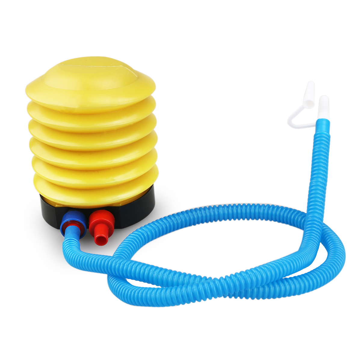 Portable Mini Inflatable Toy Balloon Foot Air Pump Inflator (Yellow+Blue) by