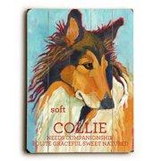 Artehouse LLC Collie by Ursula Dodge Graphic Art Plaque