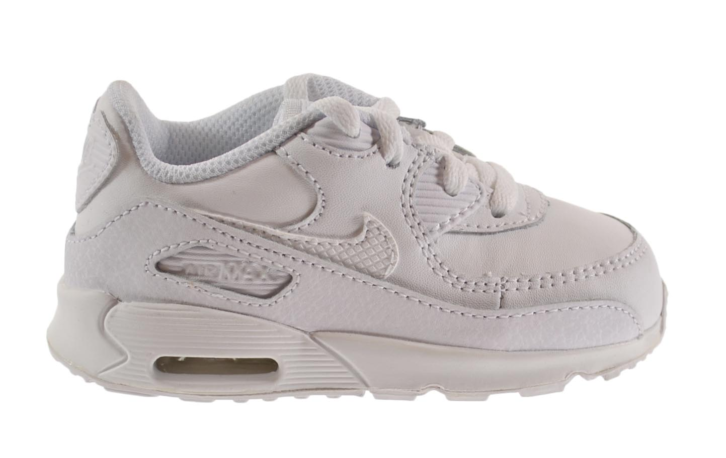 78c257b3833f ... real nike air max 90 td baby toddlers shoes white wolf grey 408110  902c5 588e6
