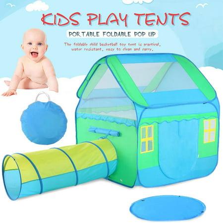 new style 4c030 2b75b HERCHR Large Kids Play Tent, Children Play Tent, Kids Pop-Up Playhouse  Tent, Children Play Tunnel Tent, Children's Three-in-one Tent, Boy Girl  Gift ...