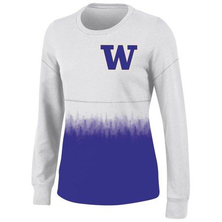 Women's White Washington Huskies Oversized Fan Long Sleeve T-Shirt