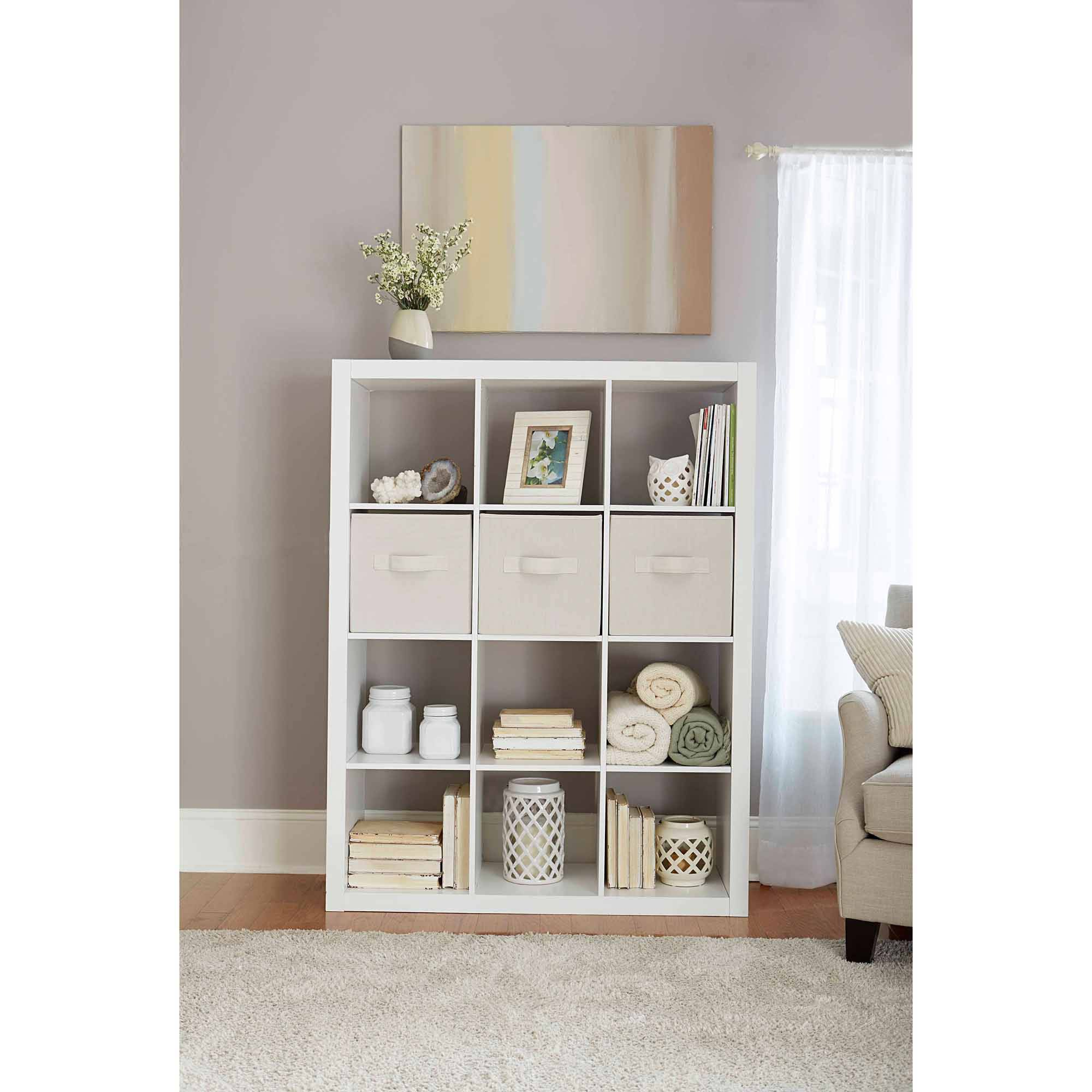 12 cube storage organizer white bookcase bookshelf modular furniture closet new