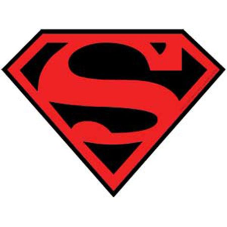 Officially Licensed, DC Comics Originals Superman Sticker with Red and Black Logo](Superman Logo Stickers)