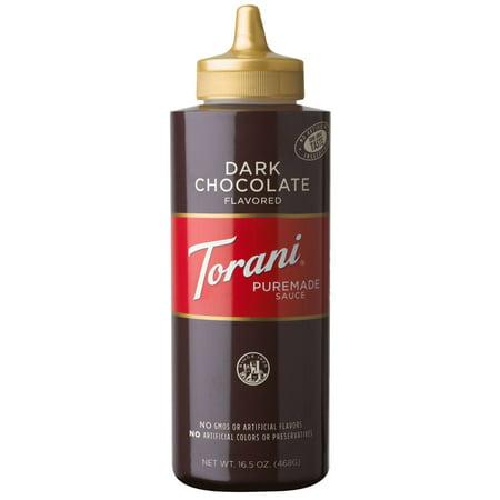 Torani Puremade Dark Chocolate Sauce, Mocha and Dessert Topping, 16.5oz