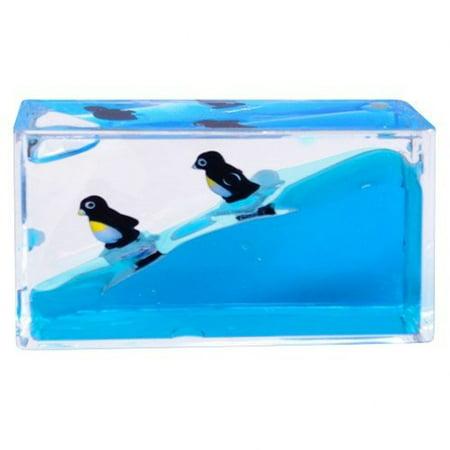 Mini Wave Liquid Paperweight (Penguin)