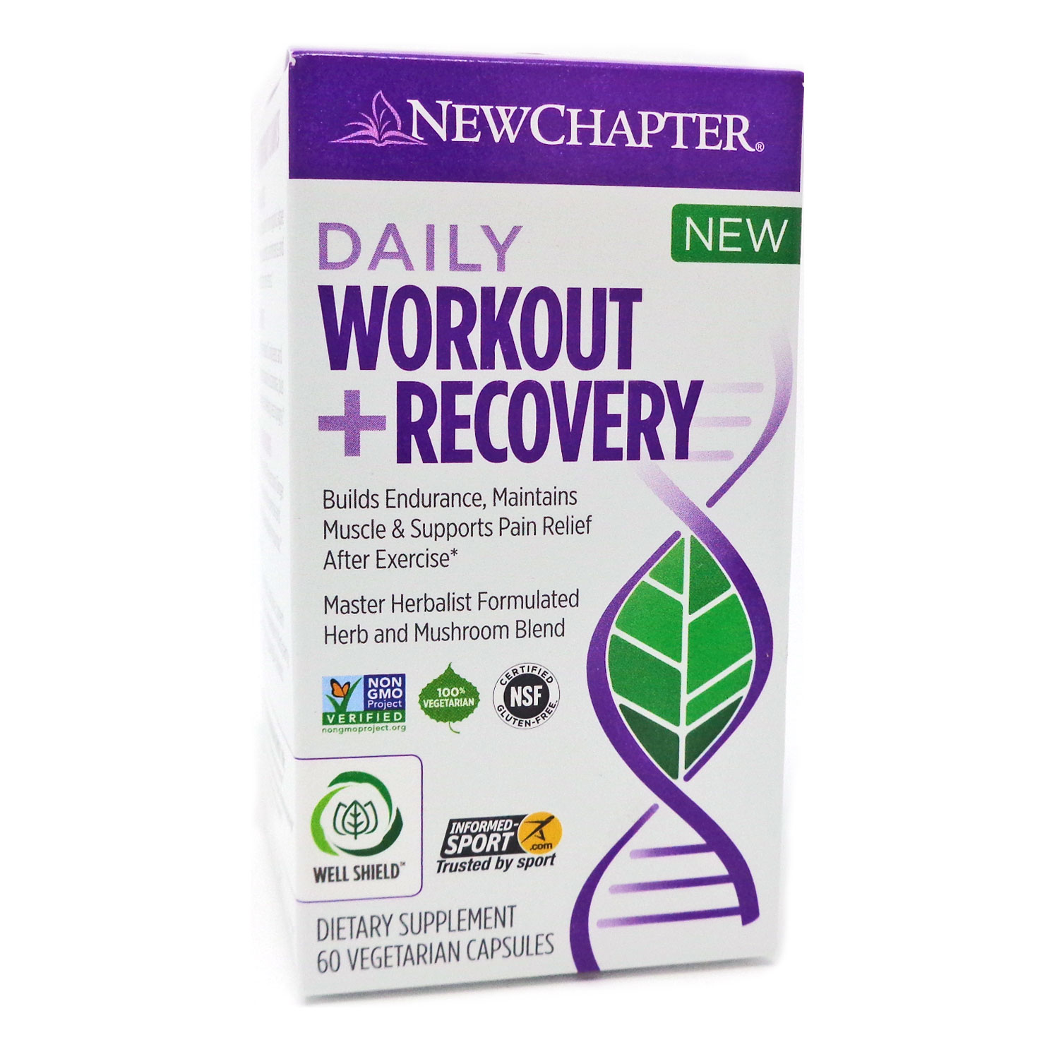 New Chapter Daily Workout Plus Recovery - 60 Capsules