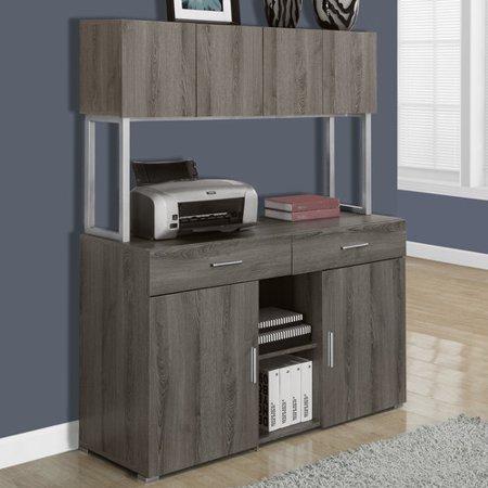 """Monarch Office Cabinet 48""""L / Dark Taupe Storage Credenza"""