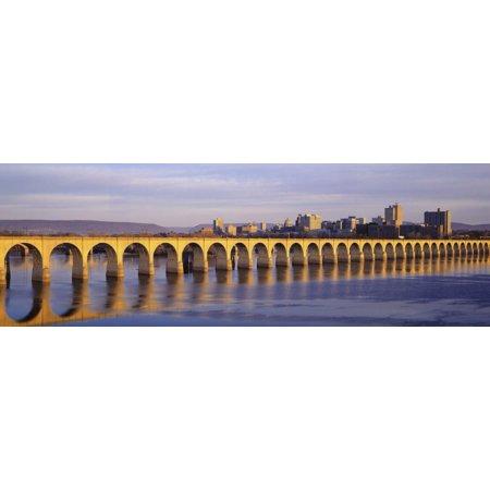 Stone Arch Railroad Bridge Harrisburg, PA Print Wall