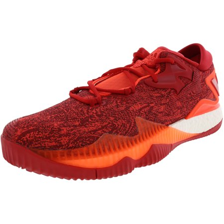Adidas Men's Crazylight Boost Low 2016 Solar Red / Scarlet Footwear White Ankle-High Nylon Basketball Shoe - 12M (Mens Lowcut Basketball Shoes)