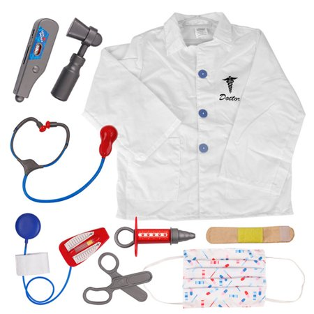 Doctor Dress Up Kids (TopTie Doctor Nurse Role Play Set Dress Up Surgeon Costumes Set For Kids Great Gift)
