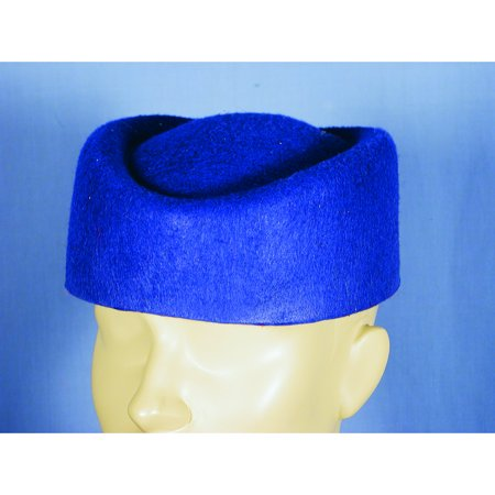 Retro Space Costume (Blue Pillbox Hat Flight Attendant Stewardess Vintage Retro Air Hostess)