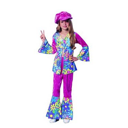 Flower Costume Jewelry - Child Flower Power Costume Franco American Novelties 49038