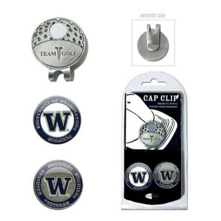 NCAA Washington Huskies Cap Clip With 2 Golf Ball Markers - image 1 of 1