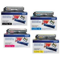 Brother TN210 Laser Toner Cartridge Complete 4-Color Set