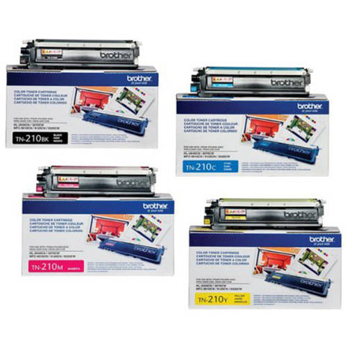 Brother TN210 Toner Cartridge Set, 4-Pack