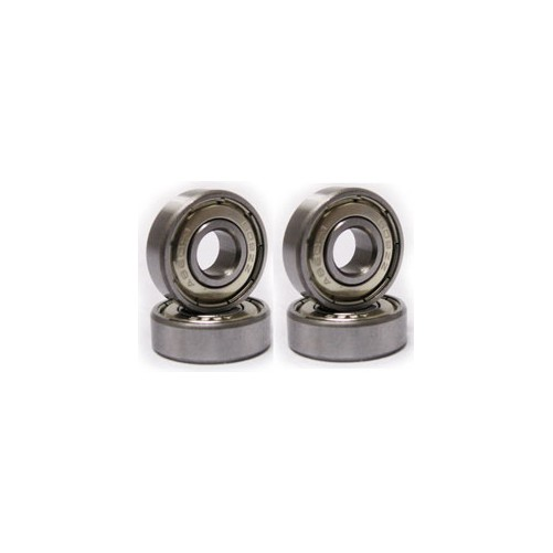 696ZZ 15 x 6 x 5mm Miniature Carbon Steel Ball Bearings Silver Tone 10 Pcs