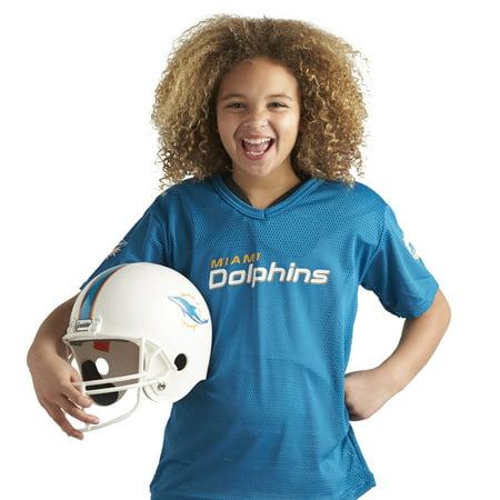 decc11c4 Franklin Sports NFL Miami Dolphins Youth Licensed Deluxe Uniform Set, Medium