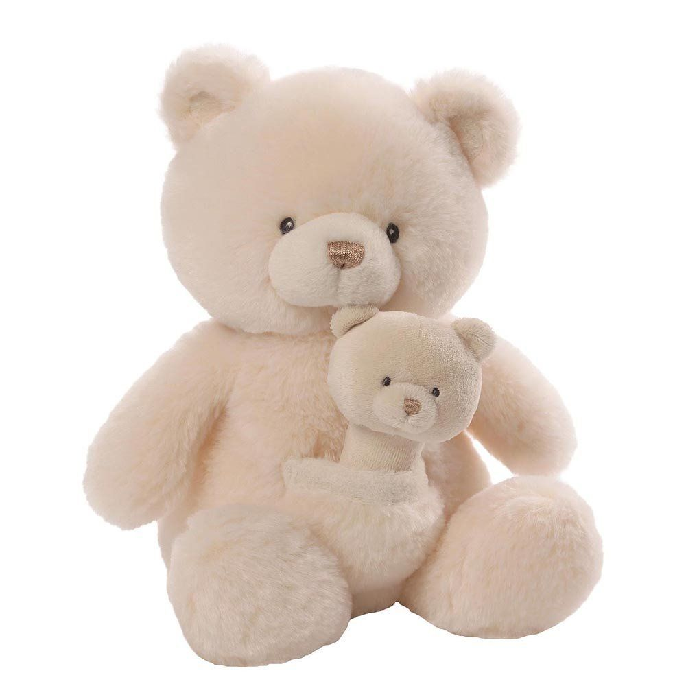 Gund Baby Oh So Soft Bear & Rattle Combo by GUND