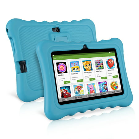 "Learning Tablets, 7"" Kids Tablet with WIFI Light Weight Portable Shock-Proof Silicone Case Kick stand Available For Kids - image 3 of 11"