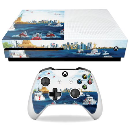 Skin For Microsoft Xbox One S - Standing Watch | MightySkins Protective, Durable, and Unique Vinyl Decal wrap cover | Easy To Apply, Remove, and Change Styles
