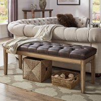 "Weston Home 52""W Natural Bench, Multiple Colors"