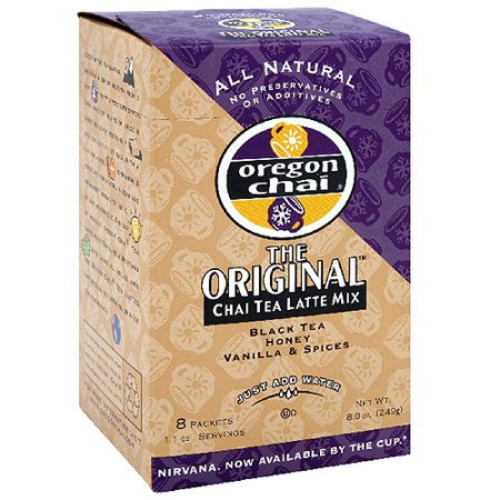 Oregon Chai Honey, Black Tea & Spices Tea, 8ct  (Pack of 6)