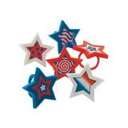 Patriotic Star Rings - Jewelry - 24 Pieces