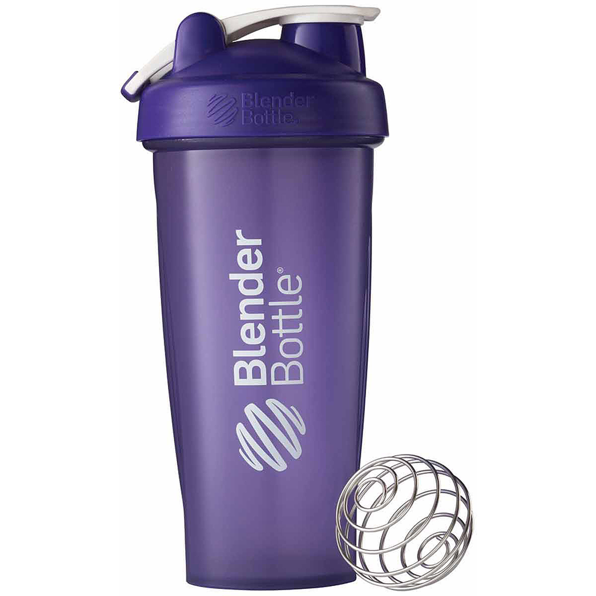 BlenderBottle 28-Ounce Classic Bottle with Loop, Full Color Purple