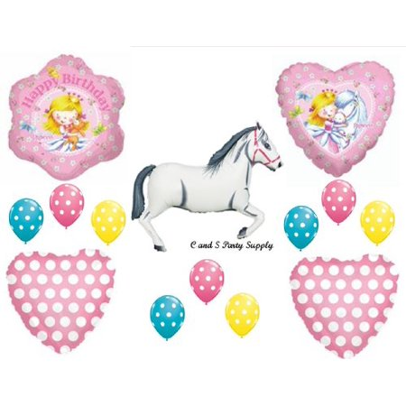 Sweet Princess and White Horse BIRTHDAY PARTY Balloons Decorations Supplies](Horse Theme Party Supplies)
