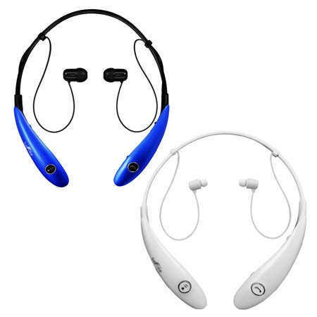 Befree Sound Bt Active Headphones With Microphone In Blue And White