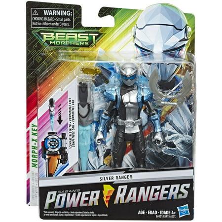 Power Rangers Rpm Toys (Power Rangers Beast Morphers Silver Ranger 6-inch Action Figure)