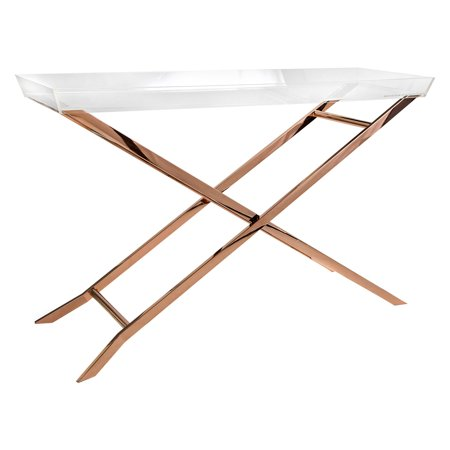 Imax Clinton Acrylic Tray Console Table