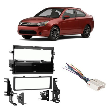 Fits Ford Focus 2005-2007 Single DIN Stereo Harness Radio Install Dash Kit