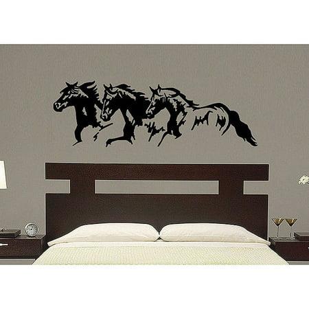 homevise vinyl 39 trio horse 39 wall decal. Black Bedroom Furniture Sets. Home Design Ideas