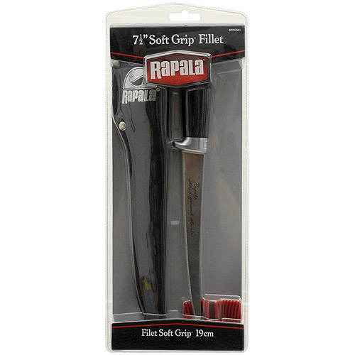 "Rapala 7.5"" Soft Grip Fillet Knife With Sharpener"