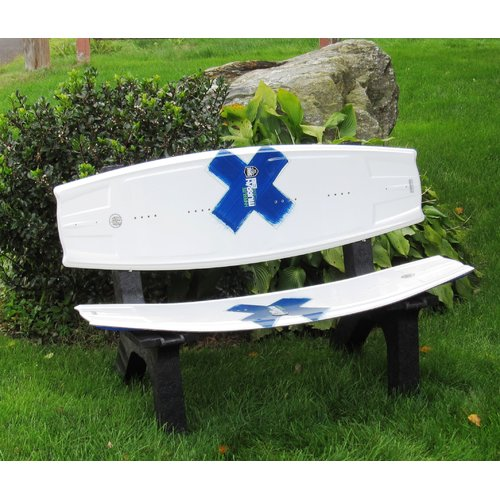 Ski Chair Wake Board Recycled Plastic Garden Bench