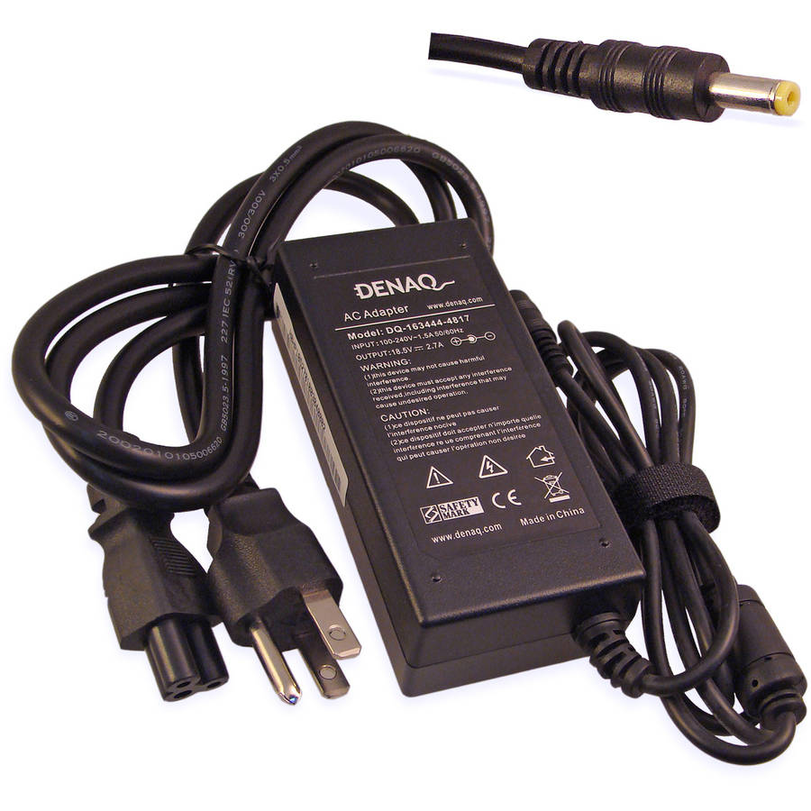 DENAQ 18.5-Volt 2.7-Amp 4.8mm-1.7mm AC Adapter for HP/Compaq Armada and Evo Series Laptops