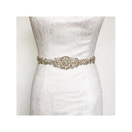 Indian Beaded Belt - 10 Colors 24'' Rhinestone rhinestone belt Crystal Wedding Dress Beaded Bridal Sash Belt Band Bride Gown Waistband Gift